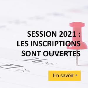 Sessions 2021 : les inscriptions sont ouvertes